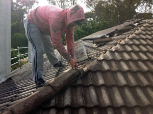 Remove all existing cement from ridge capping, valleys and gables.