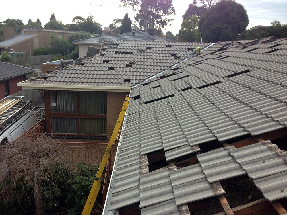 fixing a tile roof