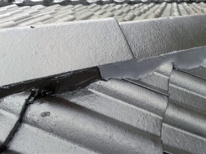freshly repaired ridge capping