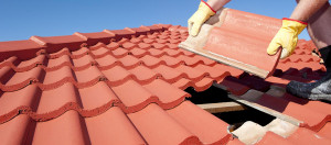 replacing a terracotta roof tile