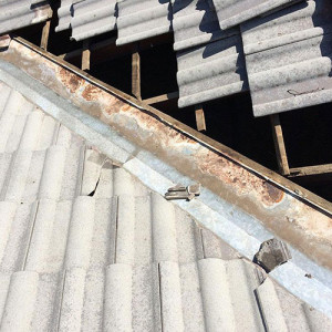 rusty roof gully