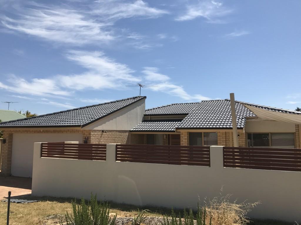 Dark Grey Roof restoration Perth