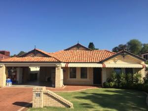 Repainted roof