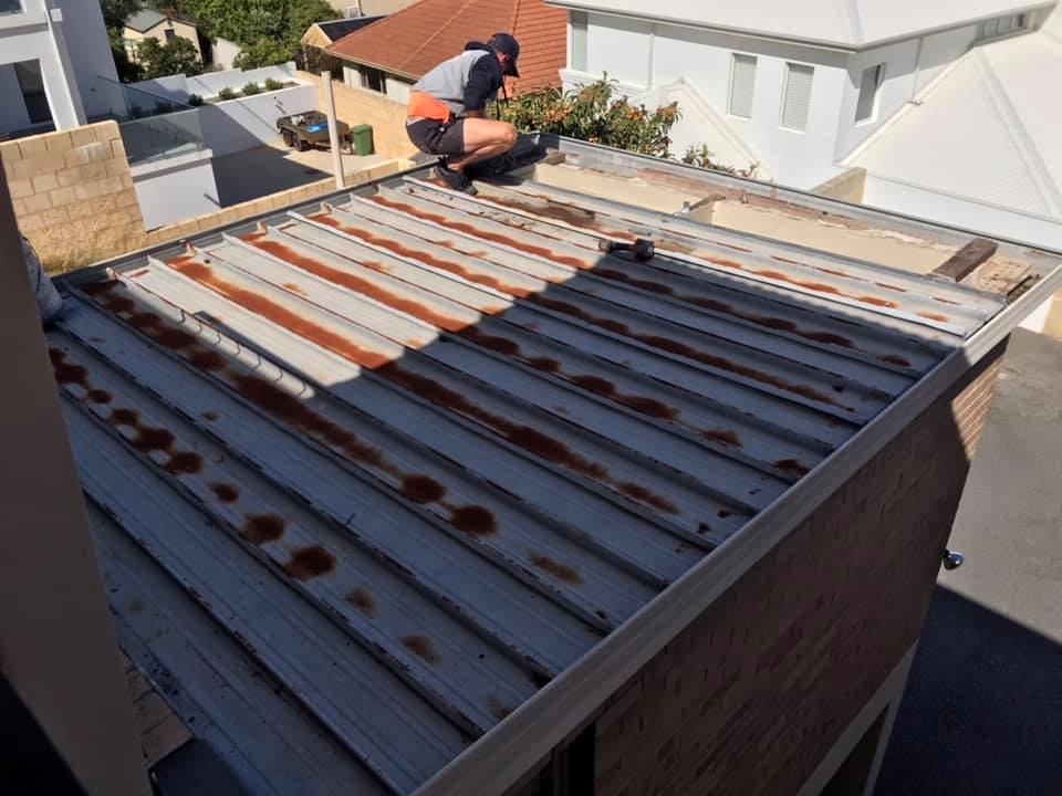Before Colorbond Roof Renovation Bitcon WA