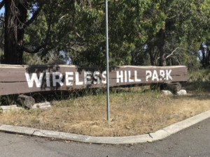 Wireless hill Park WA sign
